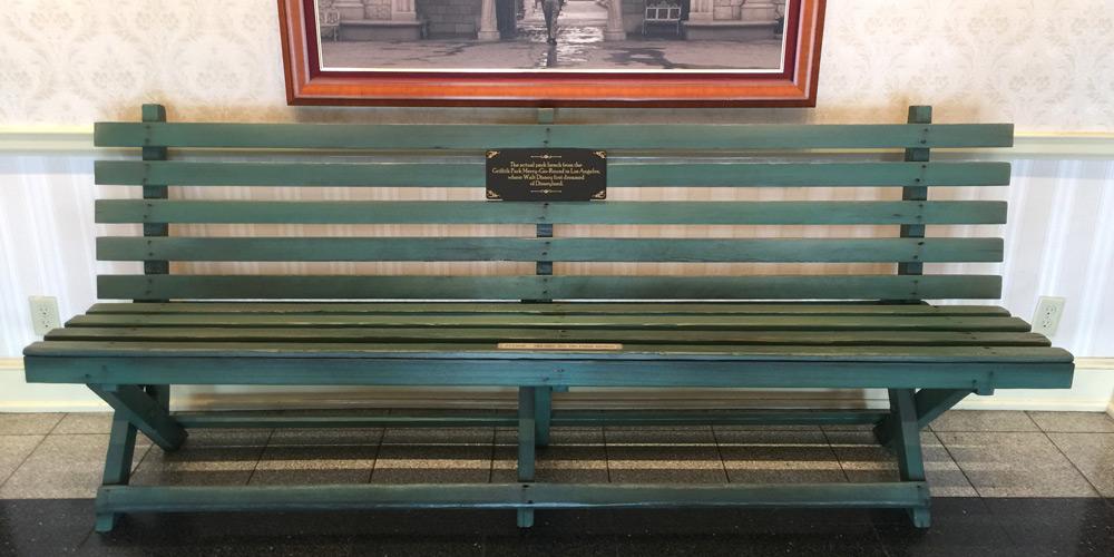 disney park bench