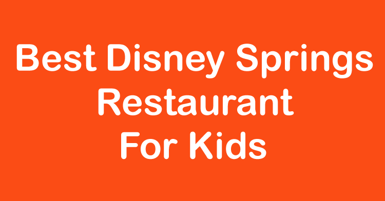 best disney springs restaurant