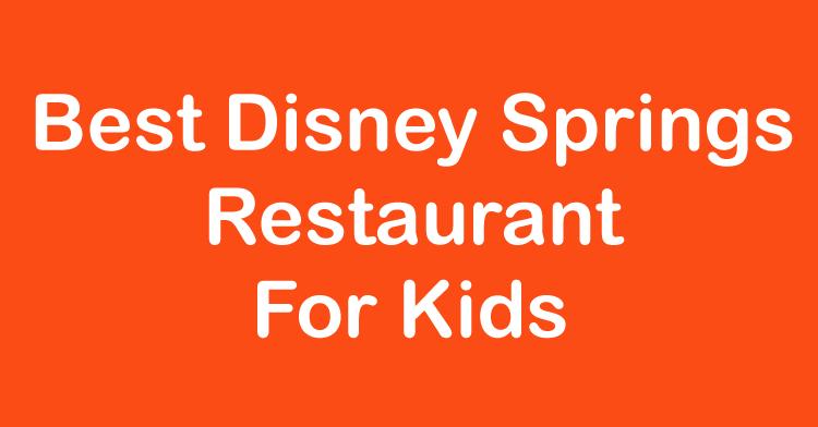 best disney springs restaurant