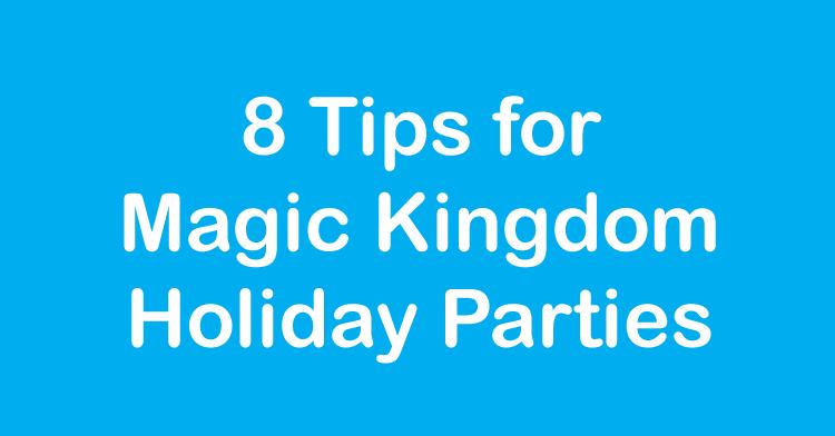 magic kingdom holiday parties
