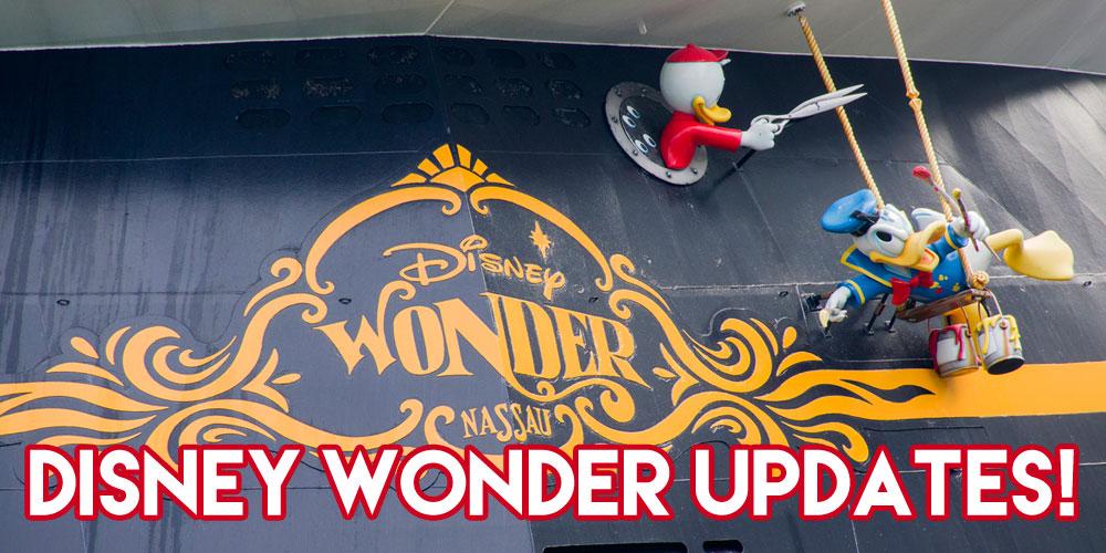 Disney Wonder Upgrades