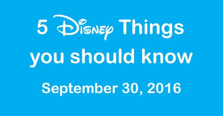 disney things this week