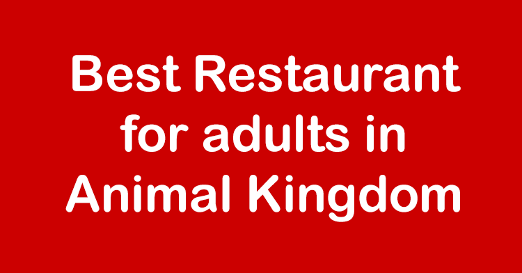 best adult restaurant animal kingdom